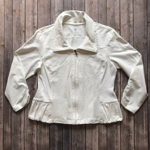 JOCKEY Person to Person Ruched Zip-up Jacket